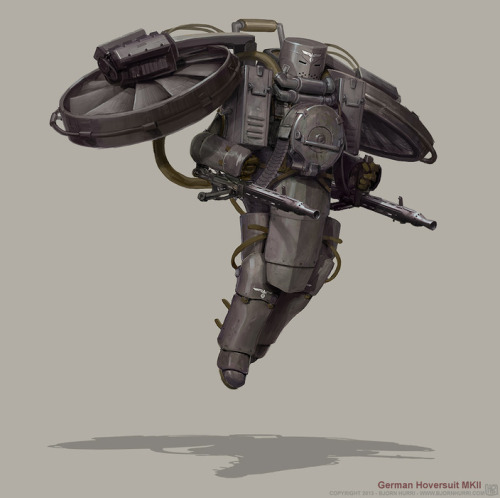 philiplumbang:  bespredell:  Diesel Punk - German Hoversuit MKII by BjornHurri  Diesel Punk… nuff said.