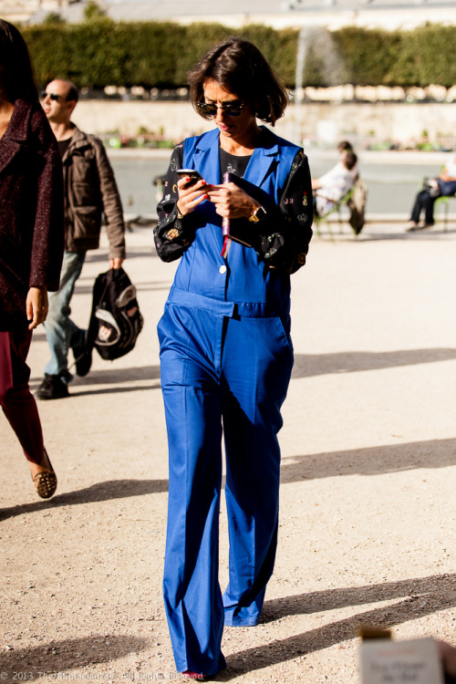 Paris Fashion Week S/S 2013: Blue Jumpsuit