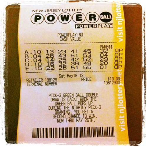 Got all five #Powerball numbers… next time, I'll get them all on the same line. 😏