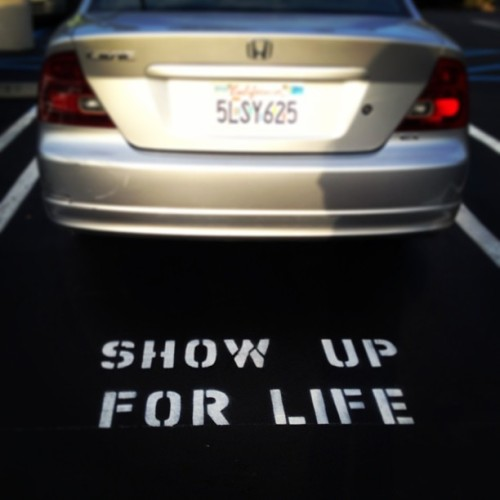 Thanks for the advice, parking space. #Inspiration #Life #LoveThis #Random #GoodAdvice #ThingsIFindWhenIWanderByMyself #CostaMesa #ShowUpForLife