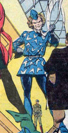 harlequinnade:  You know, the more I stare at Captain Boomerang, the more I'm filled with untold dread.  I wonder what it is he's reminding me of?