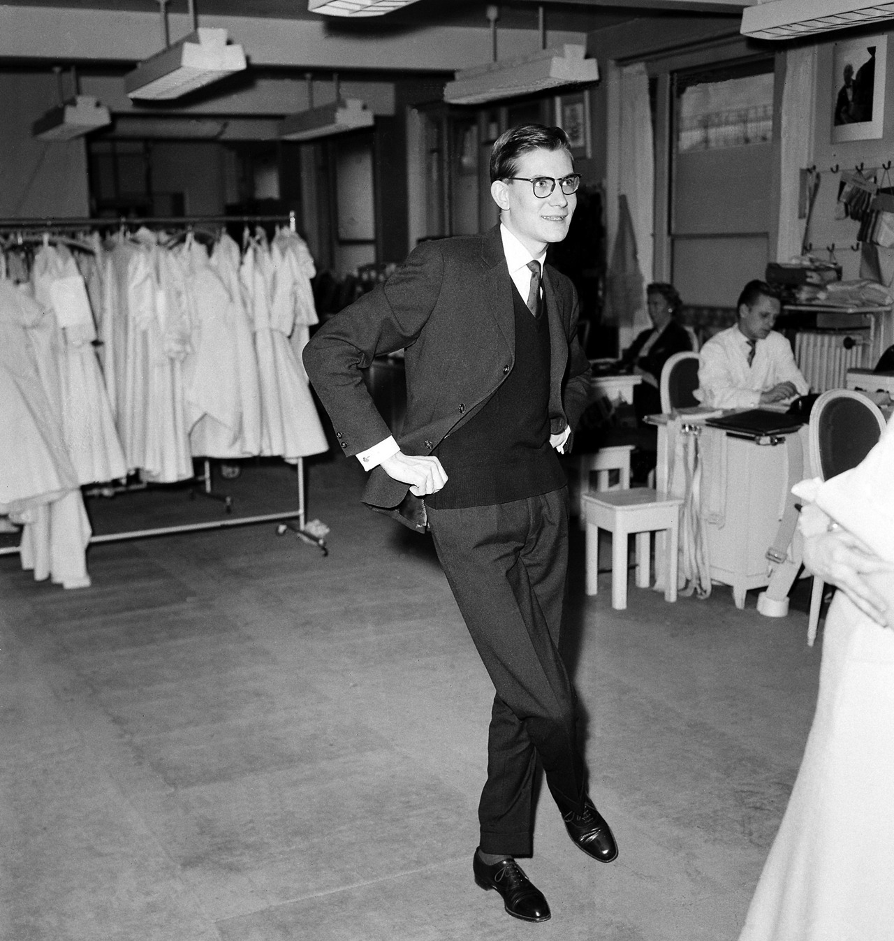 The Man Who Loved Sweater Vests With Suits 1. Yves Saint Laurent, 1958.