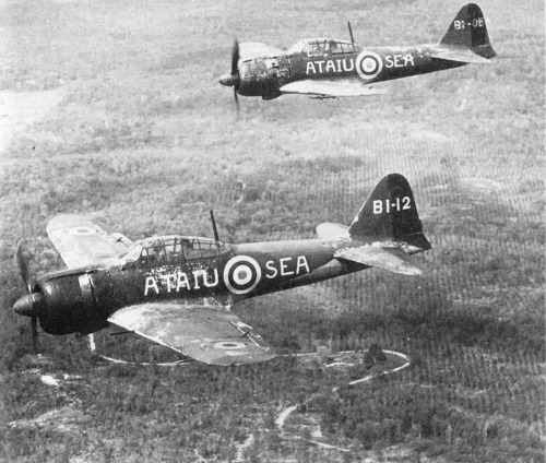 The second captured warplane image is that of two Mitsubishi A6M Zeros, impressed into RAF service after the end of the South East Asian campaign in Malaya and Singapore, 1945.