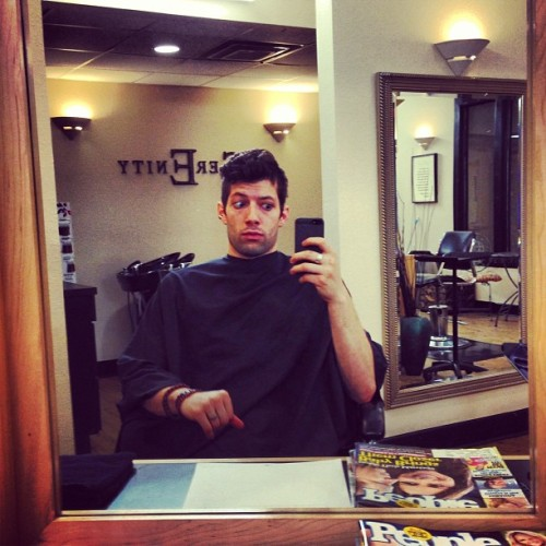 Getting a professional haircut for once… #me
