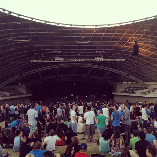 Waiting for Weezer. Myer Music Bowl. #nightout #bluealbum #GenX