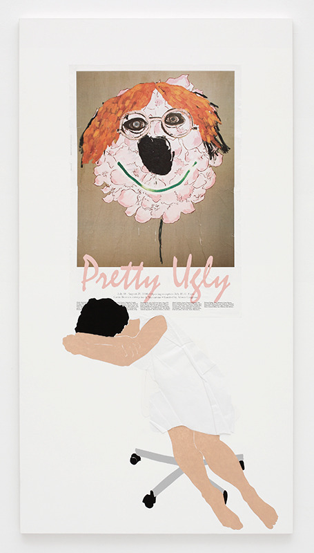 Frances StarkPretty Ugly, 2008Collage on gessoed canvas  (via Frances Stark)