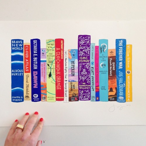 janemount:  these colors! (at Ideal Bookshelf HQ)
