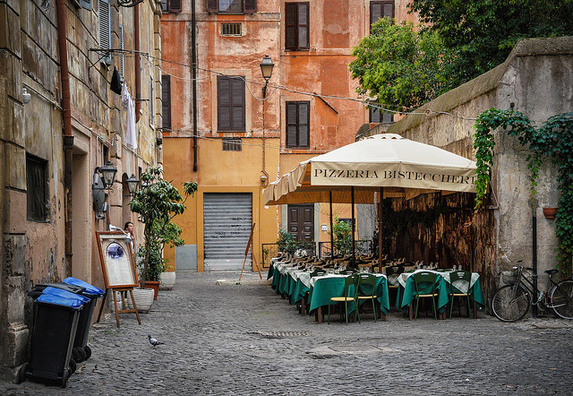 | ♕ |  Pizzeria in Trastevere, Rome  | by © macsoapy