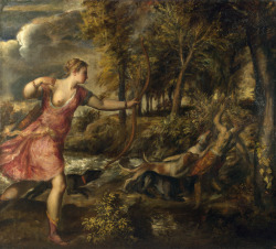 unserekunst:  Titian, The Death of Actaeon. ca. 1560.