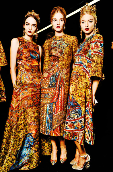 fuckyeahfashioncouture:  Backstage Dolce & Gabbana Fall-Winter 2013