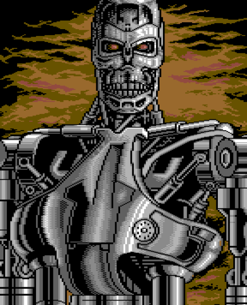 vgjunk:  Terminator 2, Commodore 64.