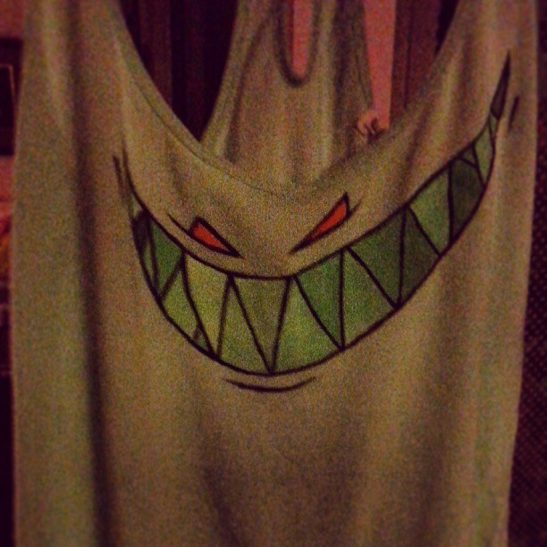 #feedme shirt I painted for the show next thurs! Sooo excited!!! #edm #rave #pinklady