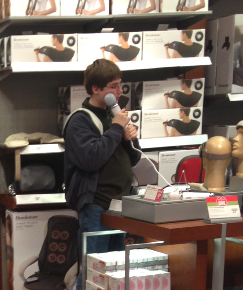 pansexualprincess:  today at the mall i saw some boy using a vibrator to massage his face and I silently thanked the lord for camera phones       (via TumbleOn)