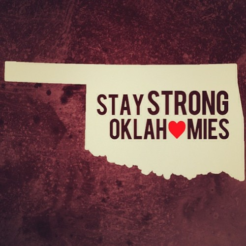 jordanick:  My Thoughts go out to everyone in my home state! :( #oklahoma #tornadoes #oklahomies