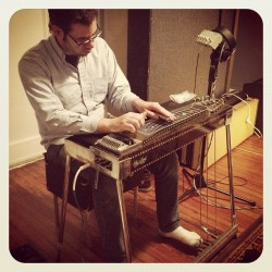 Very excited to have pedal steel on our new album! #pedalsteel #recording #musicians #nashville