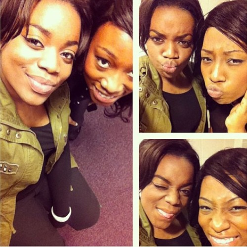 janet22d:  😂 #backstage at Houten today #withsis #africansonfire  #africlothes