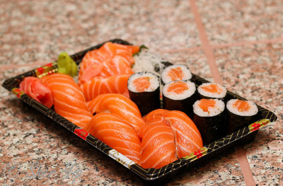 Salmon Platter by sheryip on Flickr.
