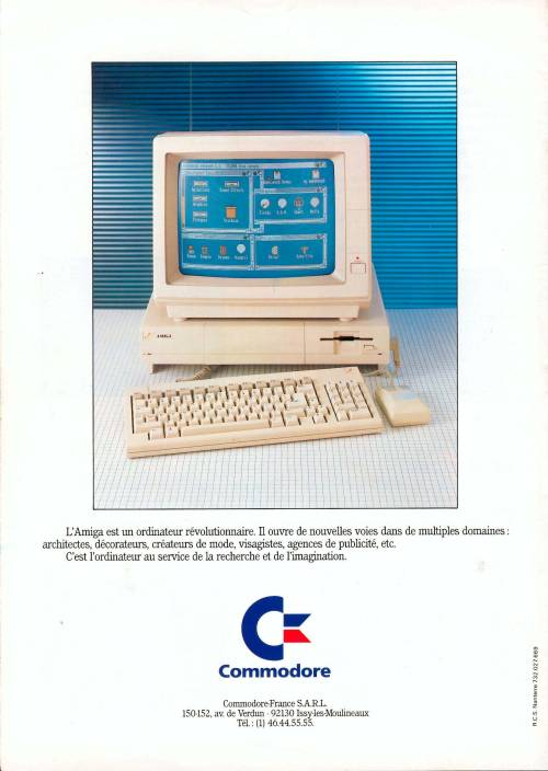 Commodore Amiga A1000 - 1985 Commodore Billboard French Amiga Brochure