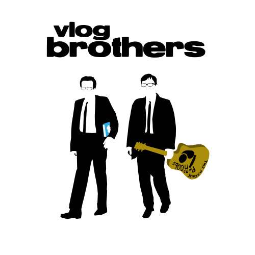 "davidcater:  Reservoir Vlogs I was watching Reservoir Dogs for the first time in a while, and I forgot how great this film is, and when it comes to films I like, I just go into a deep-thought process about it afterwards. Then an idea sprang about the colours they use and all of a sudden I went ""There's no Mr. Green! How epic would it be to see John and Hank as Mr. Green?"" So then I sprang to my computer and tried to a make a Vlogbrothers-based Reservoir Dogs design based on the iconic poster, all from scratch. A few hours later and voilà! I'm quite pleased with how this turned out as we usually see unique Vlogbrothers designs but not so many crossovers into other iconic images and themes, but if there any out there, I'd like to see them. Enjoy! :)"