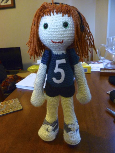 crocheted Runner 5 doll