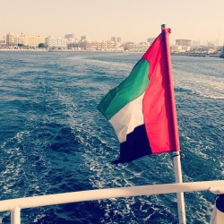 Proudly Emirati boat cruise #dubai water #cruise #adventure #flag #emirates #sea #sun #fun #holiday #vacation    (at Old Dubai)