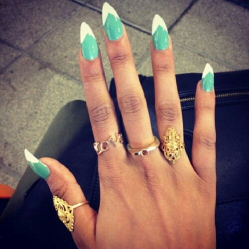 Current obsession: Pointed Nails