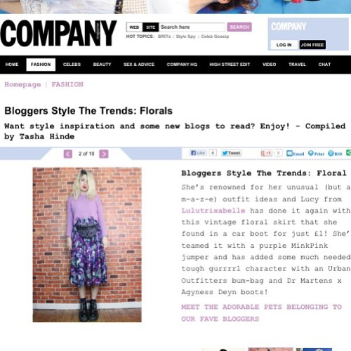 Me on the @companymagazine website ☺