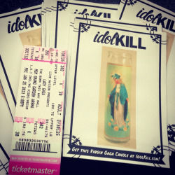 Promoting IdolKill at the Born This Way Ball in Vegas!