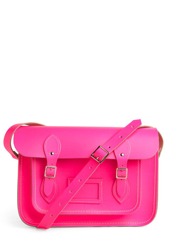 Carry a pink pizazz with you every single day. Shop the Upwardly Mobile Satchel in Neon Pink.