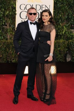 fierysadness:  Daniel Craig and Rachel Weisz at the Golden Globes