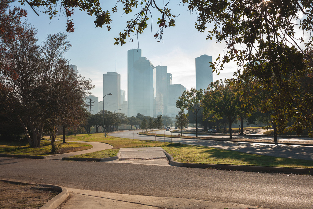 Skyline; Allen Parkway, Houston, TX
