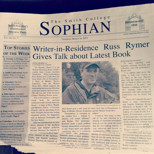 Pick up a copy of the latest Sophian! #smithcollege #smithsophian