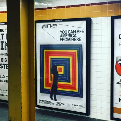 #frank_stella, #nyc, #subway, #advertisting, #painting, #abstraction, #retrospective, #new_whitney, #whitney_museum, #whitney_museum_of_american_art