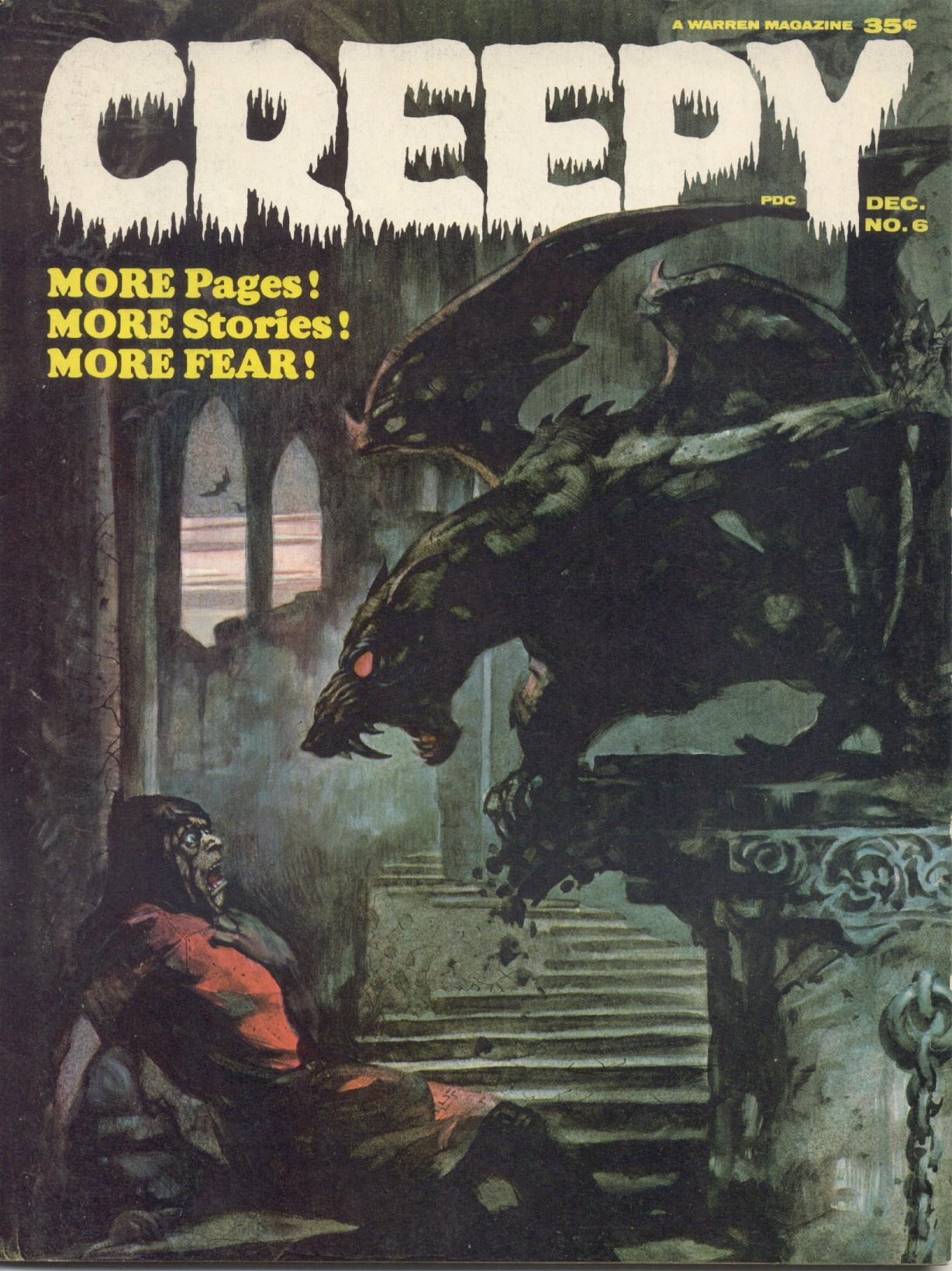 mlloydart:  Creepy #6. 1964 Warren Magazine. Cover by Frank Frazetta