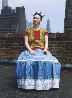 Frida Kahlo has been an influence for many years. Long before Madonna snatched up so many paintings and ignited media attention on the enigmatic and unusual Frida. As a Tex-Mexican American with a streak of the gypsy rogue in her, I couldn't help but be magnetically drawn to the larger than life artist. Her adoption of an indigenous wardrobe made her more beloved and magnetic.  (via In Pictures - Frida Kahlo's Wardrobe | AnOther)