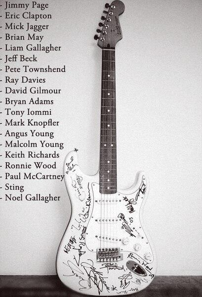 Most expensive guitar ever sold ($2.7 million) signed by all those names