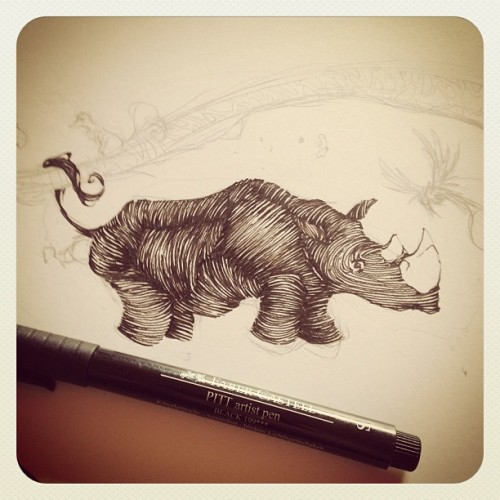 Work In Progress. #illustration #wip #rhino
