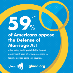 Visit http://glaad.org/marriage to learn more about marriage equality at the Supreme Court.