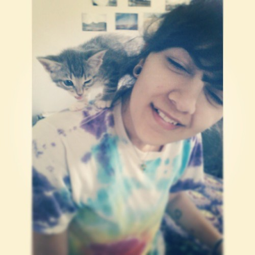 #wink #kitty #kitten #cat #cute #derp #tyedye #cutegirl #pretty #livegramming