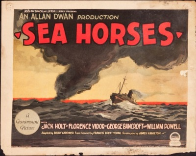 Title card for Sea Horses (1926). Sold here.