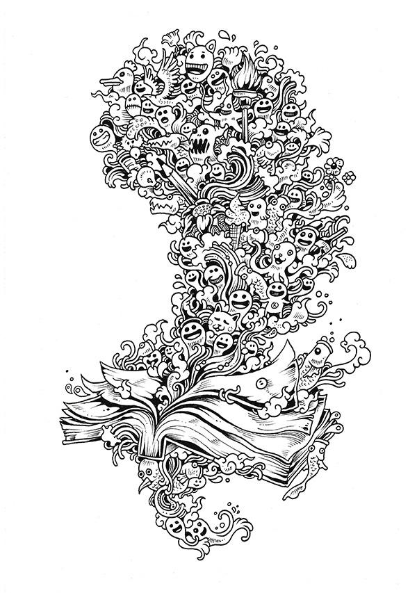 Illustration Design Doodle Highlight Doodle Invasion