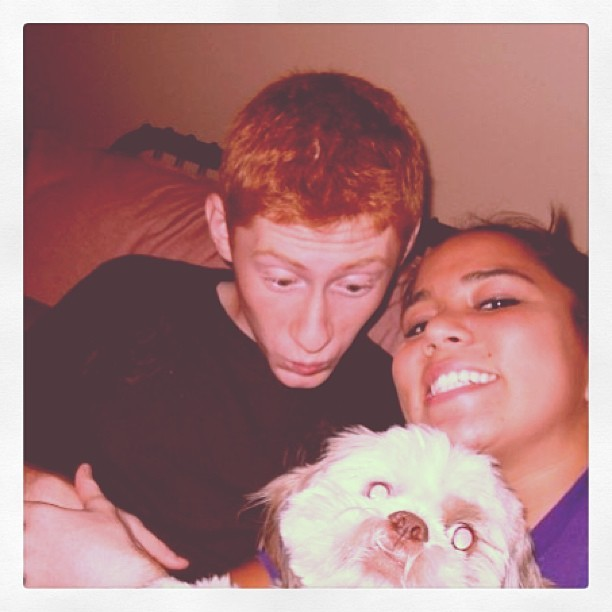 #tbt @ryanfisha and I getting drunk with Chester :) 2009