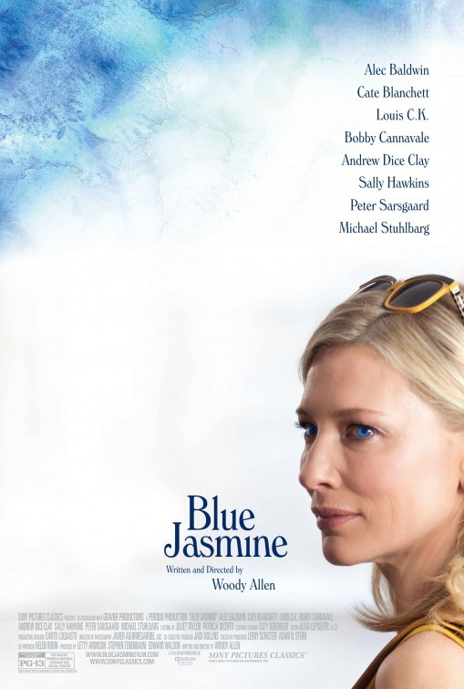 Poster for Woody Allen's latest film Blue Jasmine starring the immensely talented Cate Blanchett.  I haven't heard too much about this one, but I absolutely loved Midnight in Paris and for that, I will give this movie a shot! [source]