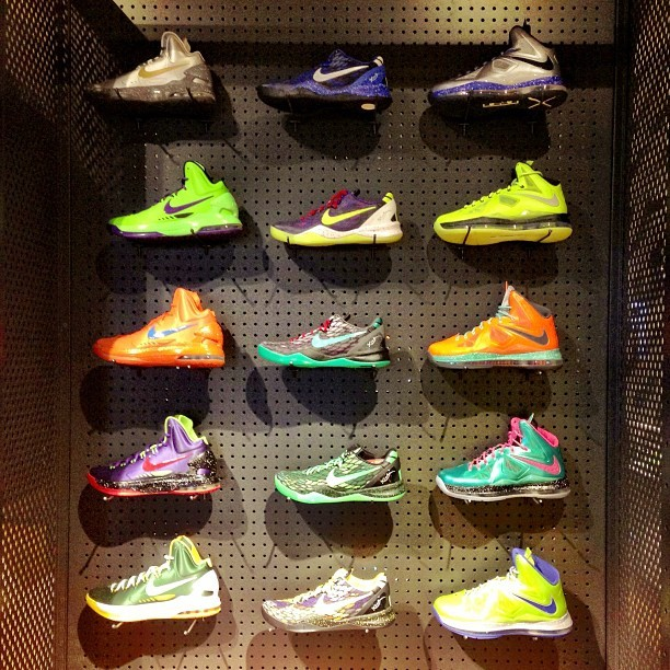 Wall Of Kicks ~ #Basketball #Lebron #KD #KB #nike #kicks #nicekicks #igers #sneakerhead