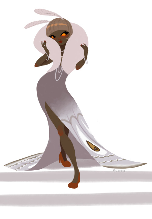 thesanityclause:  Wanted to take another shot at that moth girl from the monster girl challenge because I liked the idea and color choices but wasn't crazy about the actual drawing. So this is just to settle my conscience. I do feel better.