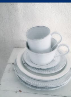 via nikki friday theme: white my favorite tableware and candles in the world are from astier de villatte.