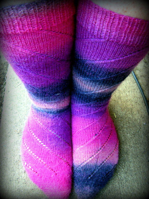 Finished knitting my socks today!