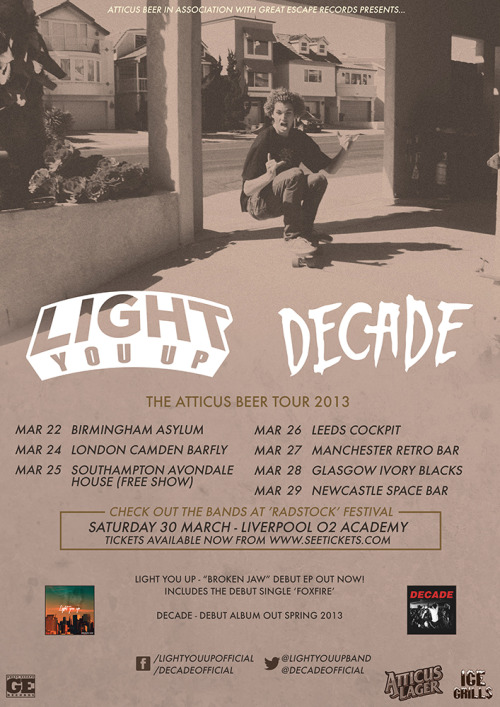 lightyouup:  Skateboarding, Beer, Music.