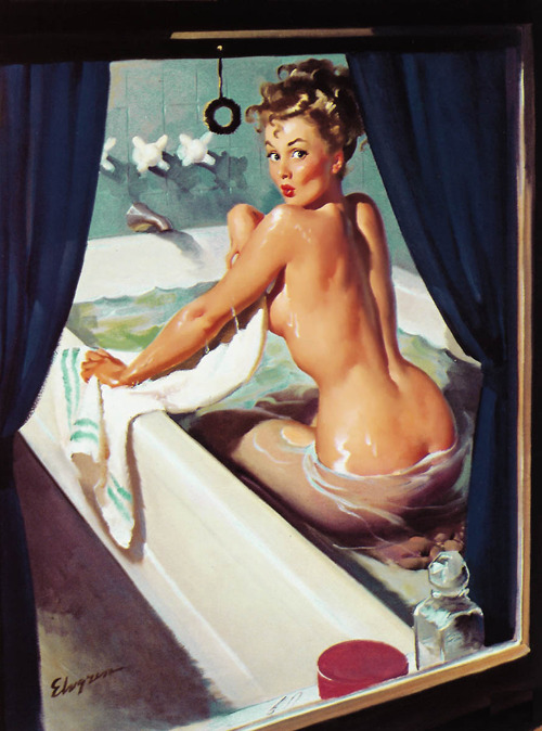 "vintagegal:  ""Jeepers Creepers"" by Gil Elvgren, 1948"