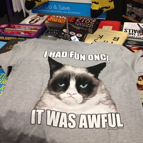 Yes, this a real t-shirt that is for sale. #grumpycat #tshirt #funny  (at Books-A-Million)